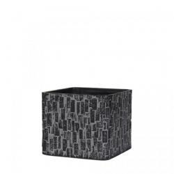 Кашпо-Куб Capi Nature Planter Square Stone Black